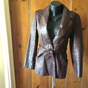 Vintage Leather Blazer Jacket Wilson's medium